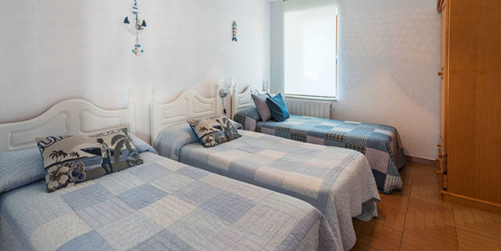 Habitación de apartamentos rurales en vacaciones en Cantabria