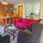 Salón de apartamento turístico en Cantabria