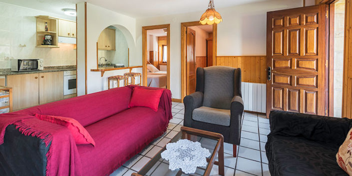 Salón apartamento rural en Cantabria
